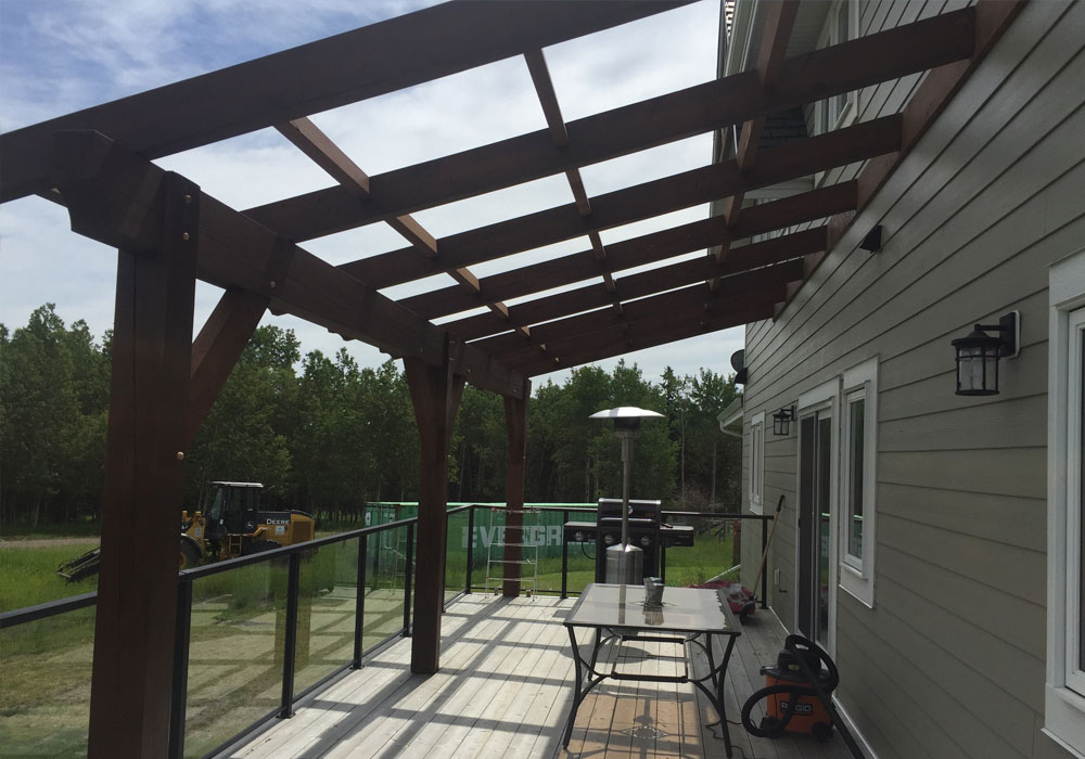 post and beam pergola builder calgary