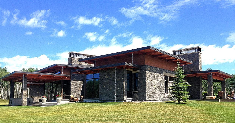 modern timber frame house
