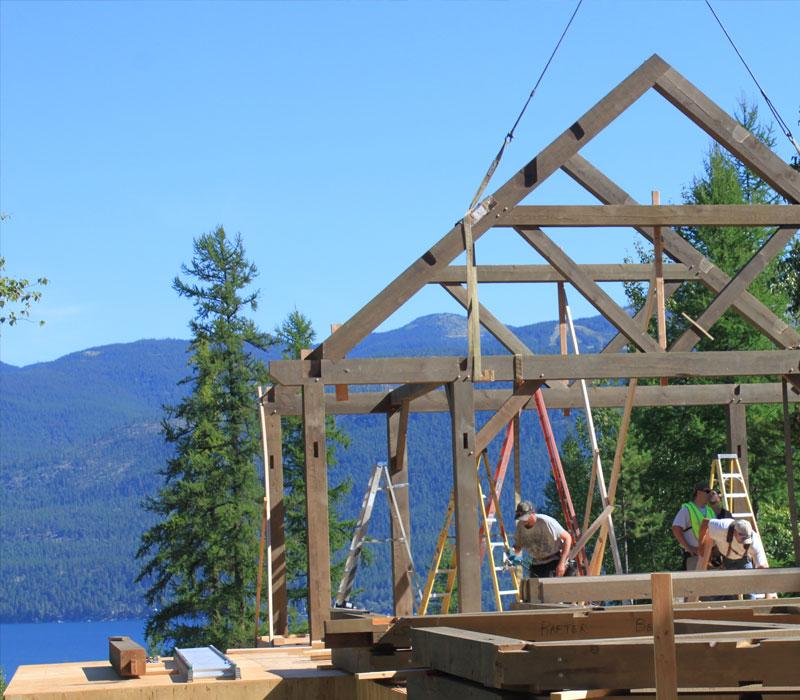 montana timber frame house builder