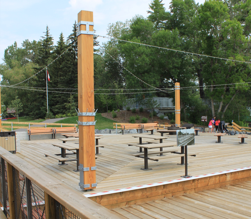 bowness park outdoor area timber frame