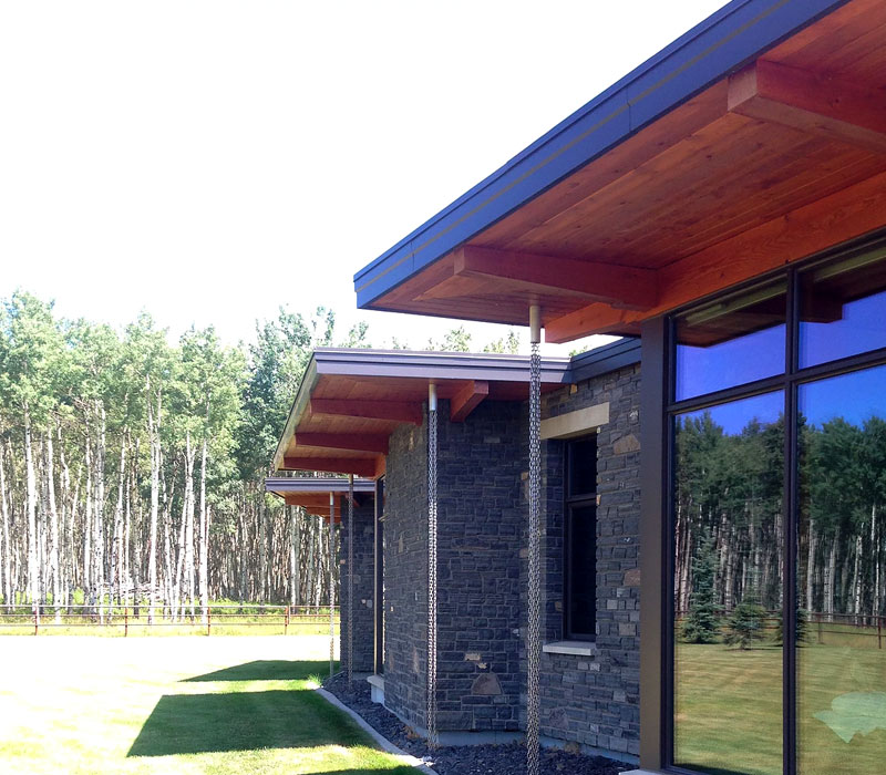 ultra modern timber frame house