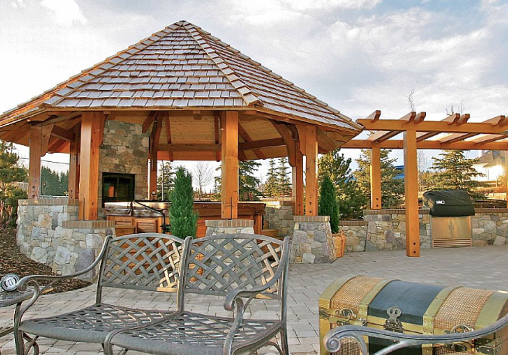 custom post and beam pergola design calgary alberta